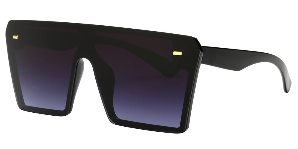 7964 - Oversized Sunglasses with Flat Top and Flat Lens
