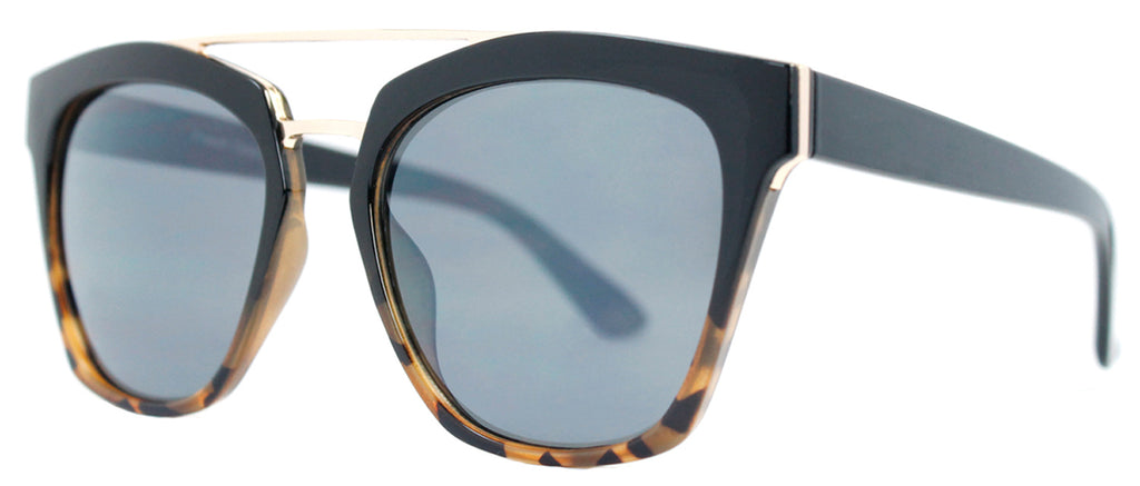 Dynasol Eyewear - Wholesale Sunglasses - FC 6399 - Horn Rimmed with Brow Bar Plastic Sunglasses - sunglasses