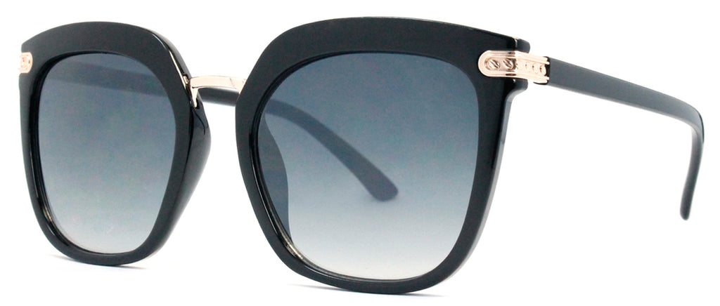 Dynasol Eyewear - Wholesale Sunglasses - FC 6400 - Retro Square Horn Rimmed Plastic Sunglasses - sunglasses