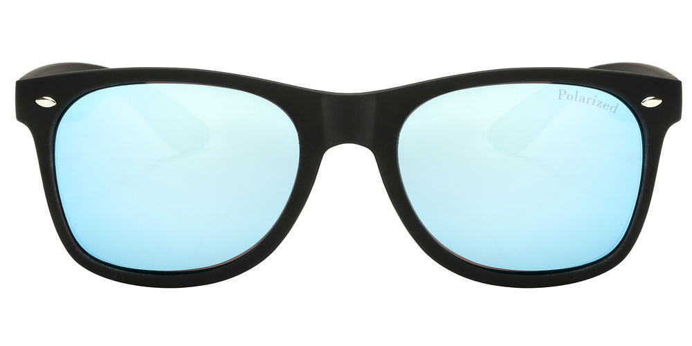 Wholesale - PL 7110 RVC - Classic Horn Rimmed Plastic Polarized Sunglasses with Color Mirror Lens - Dynasol Eyewear