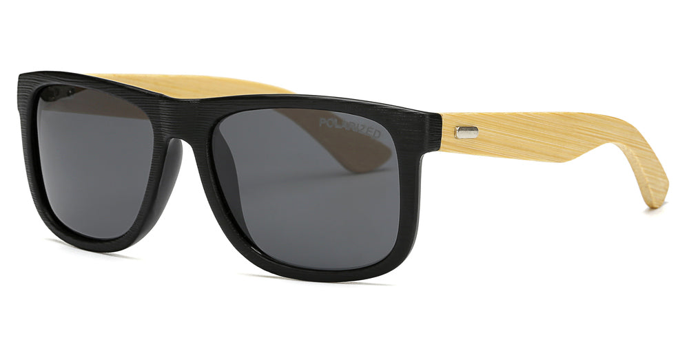 Wholesale - PL 7971 - Wholesale Bamboo Polarized Lens Sunglasses - Dynasol Eyewear