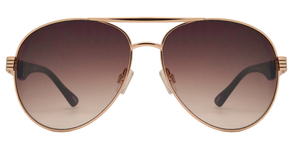Wholesale - OX 2827 - Classic Metal Oval Shaped with Detailed Temple Sunglasses - Dynasol Eyewear