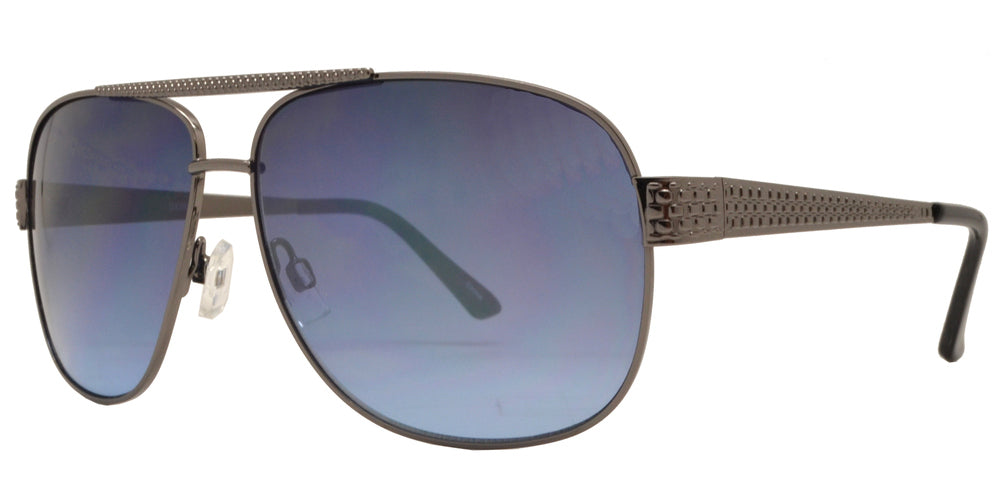 OX 2829 - Square Sports Aviator with Brow Bar Metal Sunglasses