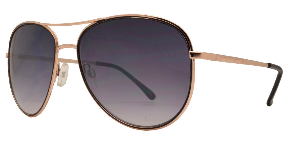 Dynasol Eyewear - Wholesale Sunglasses - OX 2830 - Classic Metal Aviator Sunglasses with Brow Bar - sunglasses