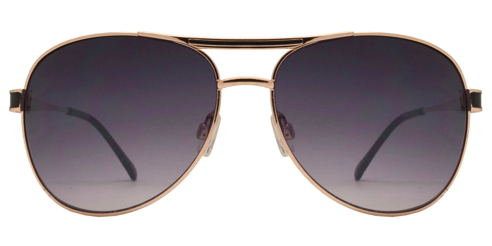 Wholesale - OX 2831 - Classic Aviator with Brow Bar Metal Sunglasses - Dynasol Eyewear