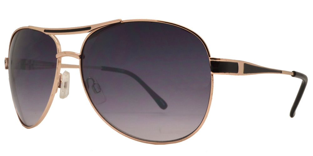 Dynasol Eyewear - Wholesale Sunglasses - OX 2831 - Classic Aviator with Brow Bar Metal Sunglasses - sunglasses
