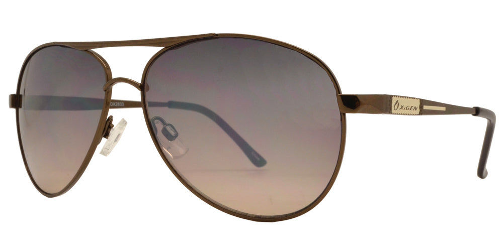 Dynasol Eyewear - Wholesale Sunglasses - OX 2833 - Classic Aviator with Brow Bar Metal Sunglasses - sunglasses