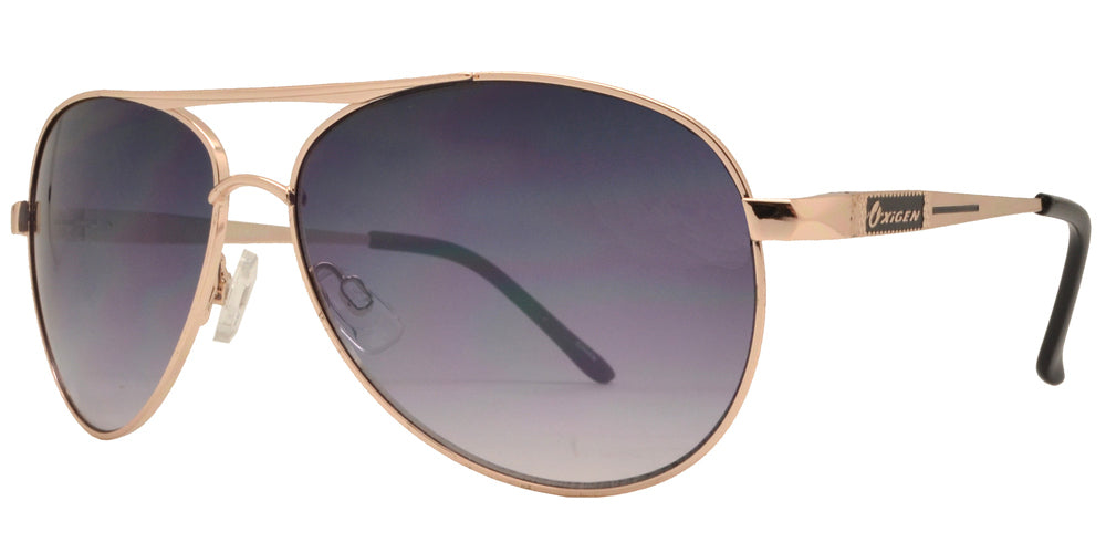 Wholesale - OX 2833 - Classic Aviator with Brow Bar Metal Sunglasses - Dynasol Eyewear