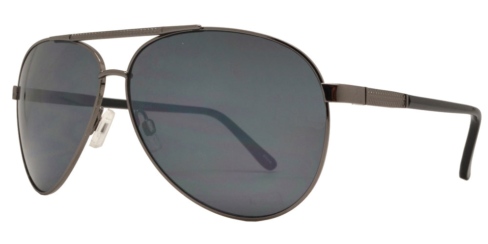 Dynasol Eyewear - Wholesale Sunglasses - OX 2835 - Classic Aviator with Brow Bar Metal Sunglasses - sunglasses