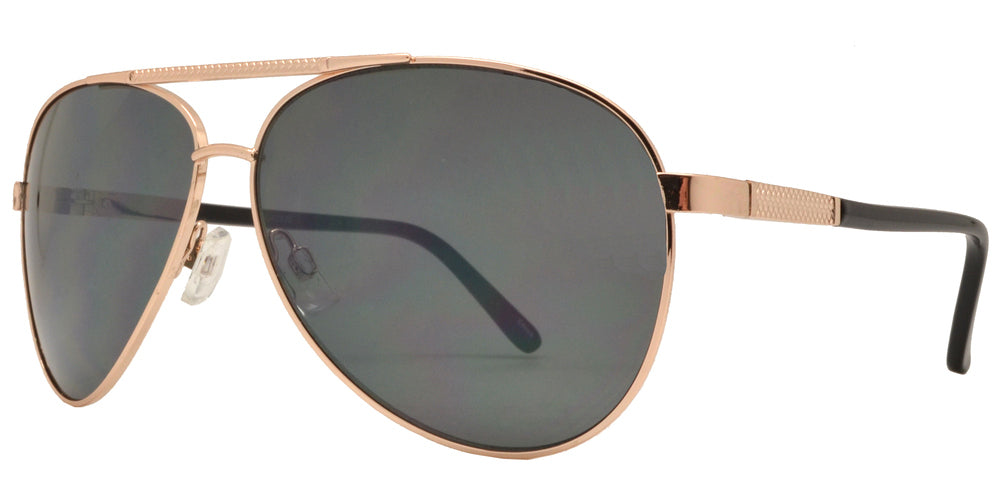 OX 2835 - Classic Aviator with Brow Bar Metal Sunglasses