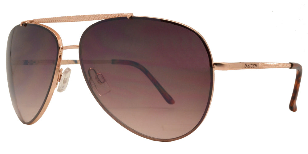 Dynasol Eyewear - Wholesale Sunglasses - OX 2837 - Classic Aviator with Brow Bar Metal Sunglasses - sunglasses