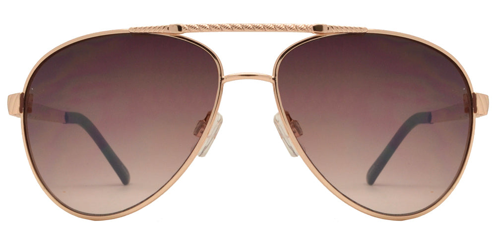 Dynasol Eyewear - Wholesale Sunglasses - OX 2839 - Classic Aviator with Brow Bar Metal Sunglasses - sunglasses