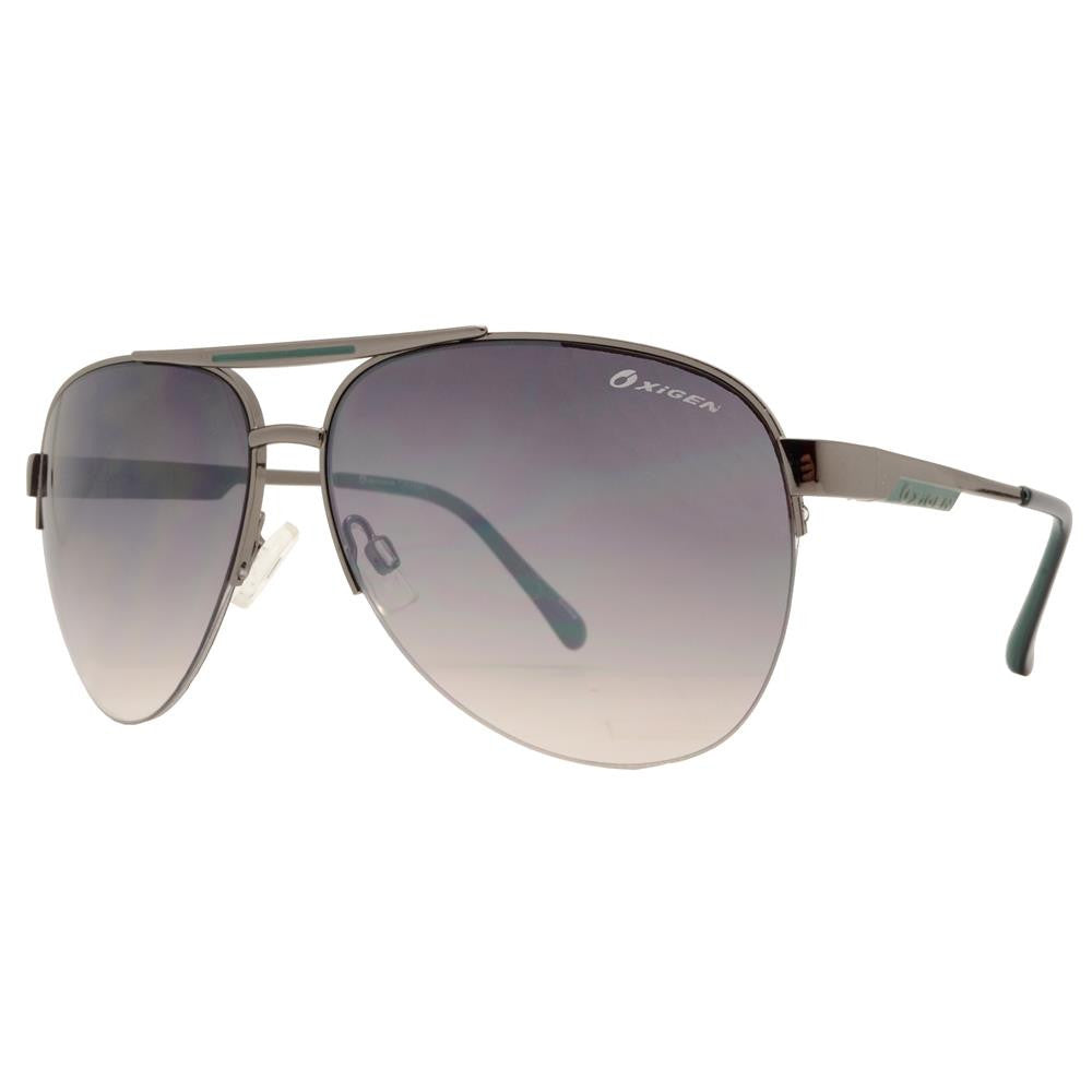 Dynasol Eyewear - Wholesale Sunglasses - OX 2844 - Classic Aviator Half Rimmed with Brow Bar Metal Sunglasses - sunglasses