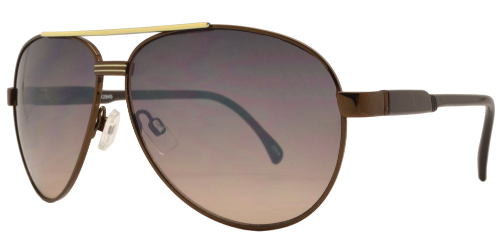 OX 2845 - Classic Classic Aviator with Brow Bar Metal Sunglasses