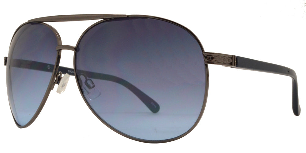 Dynasol Eyewear - Wholesale Sunglasses - OX 2846 - Classic Aviator with Brow Bar Metal Sunglasses - sunglasses