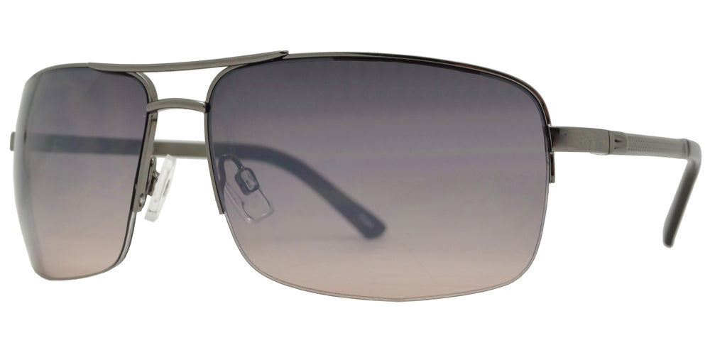 Dynasol Eyewear - Wholesale Sunglasses - OX 2848 - Men's Rectangular Aviator with Brow Bar Metal Sunglasses - sunglasses