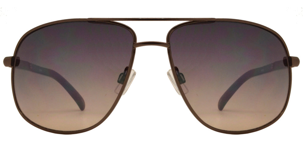 OX 2849 - Square Aviator with Brow Bar Metal Sunglasses