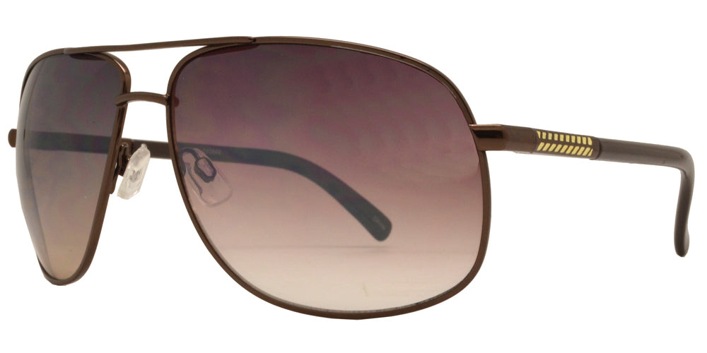 Dynasol Eyewear - Wholesale Sunglasses - OX 2849 - Square Aviator with Brow Bar Metal Sunglasses - sunglasses