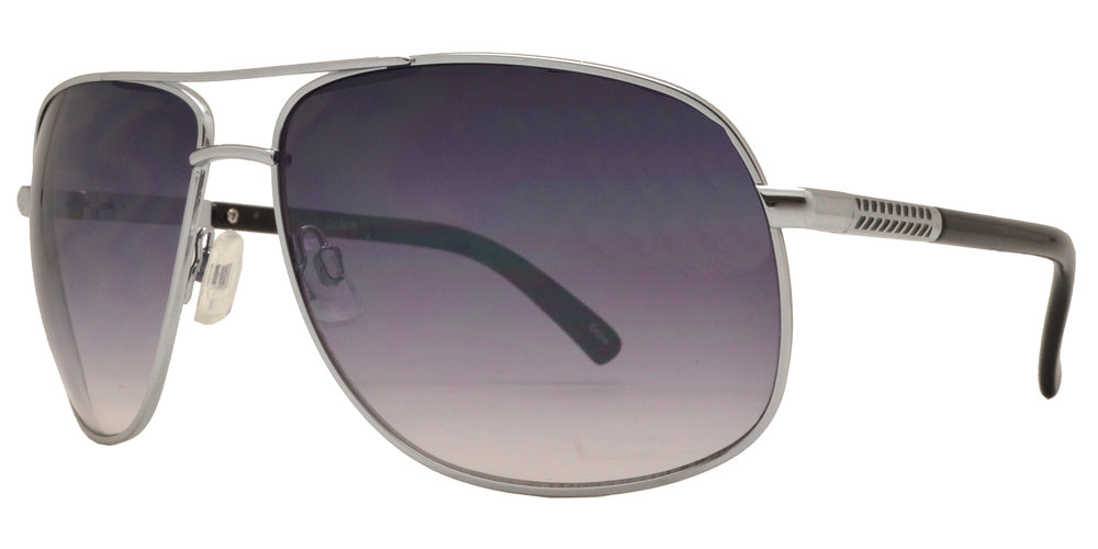 Wholesale - OX 2849 - Square Aviator with Brow Bar Metal Sunglasses - Dynasol Eyewear