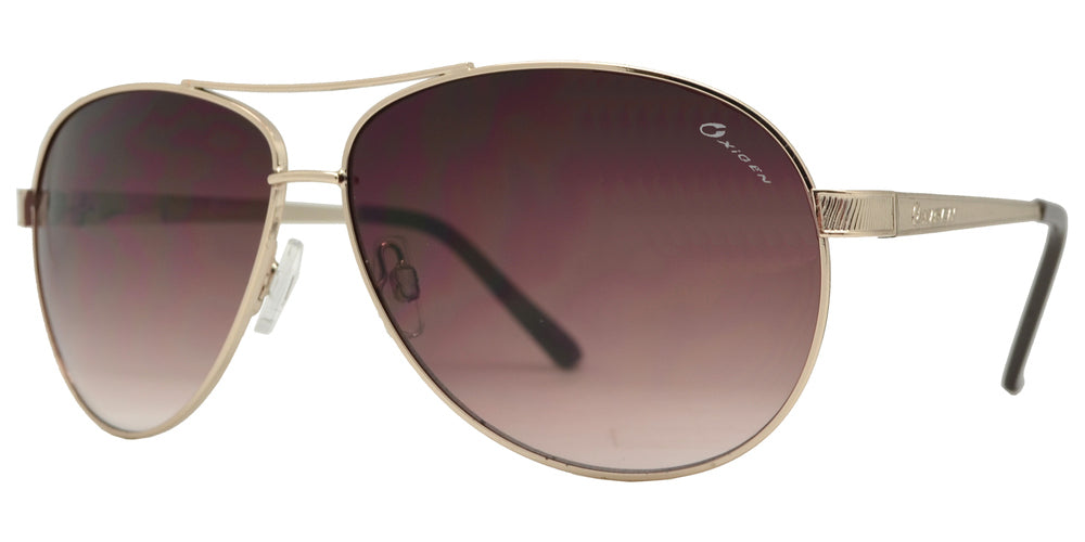 OX 2853 - Classic Aviator with Brow Bar Metal Sunglasses