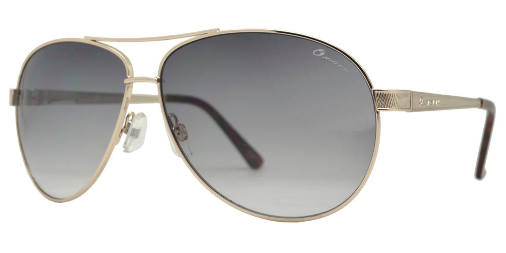 Dynasol Eyewear - Wholesale Sunglasses - OX 2853 - Classic Aviator with Brow Bar Metal Sunglasses - sunglasses