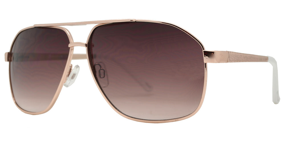 Dynasol Eyewear - Wholesale Sunglasses - OX 2857 - Asymmetrical Square Aviator with Brow Bar Metal Sunglasses - sunglasses