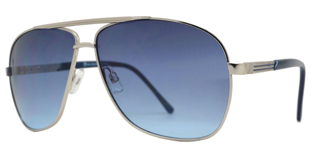 Dynasol Eyewear - Wholesale Sunglasses - OX 2860 - Classic Square Aviator with Brow Bar Metal Sunglasses - sunglasses