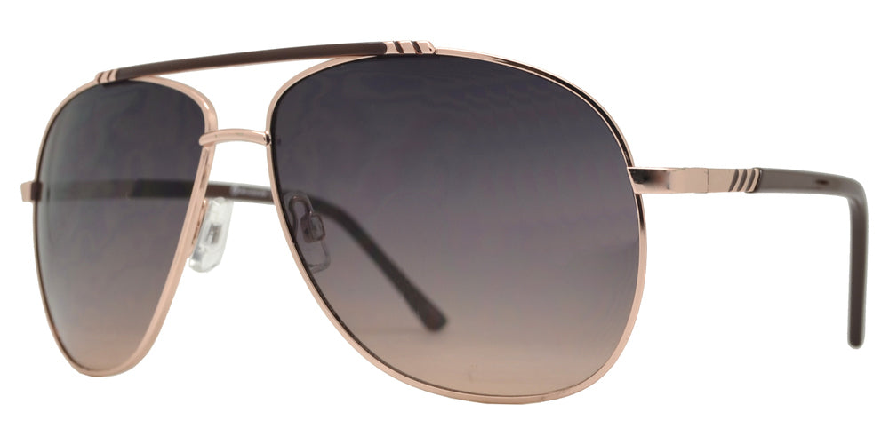 Dynasol Eyewear - Wholesale Sunglasses - OX 2861 - Classic Aviator with Brow Bar Metal Sunglasses - sunglasses