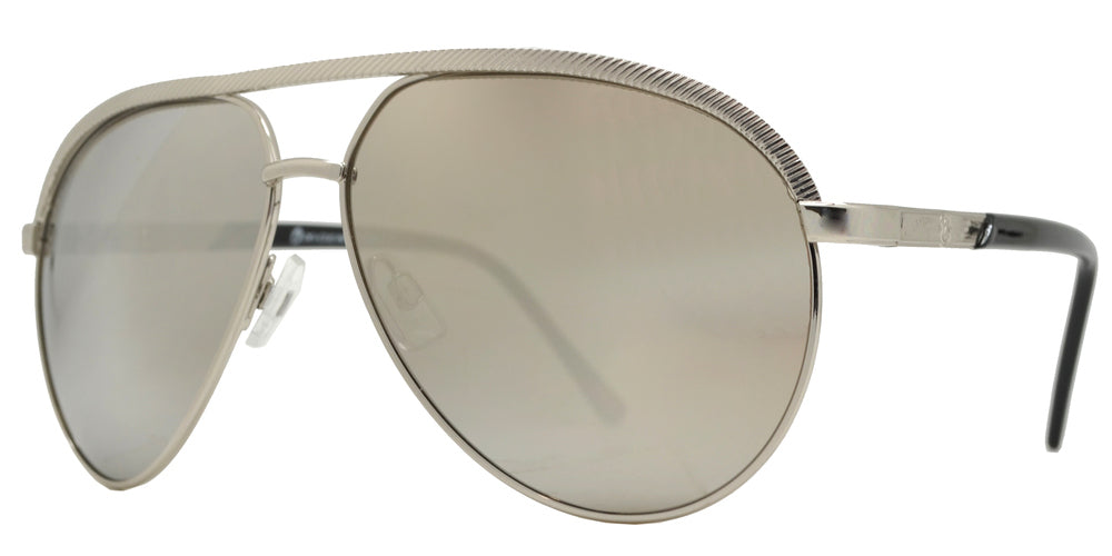 OX 2862 - Modern Metal Oval Shaped Sunglasses with Brow Bar