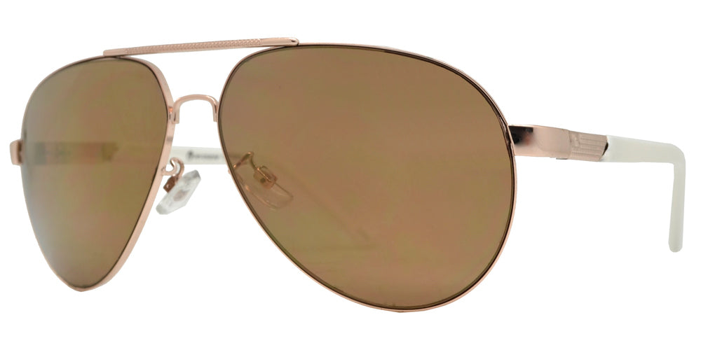 Dynasol Eyewear - Wholesale Sunglasses - OX 2863 - Classic Aviator with Brow Bar Metal Sunglasses - sunglasses