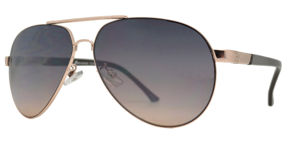 Wholesale - OX 2863 - Classic Oval Shaped Metal Sunglasses - Dynasol Eyewear