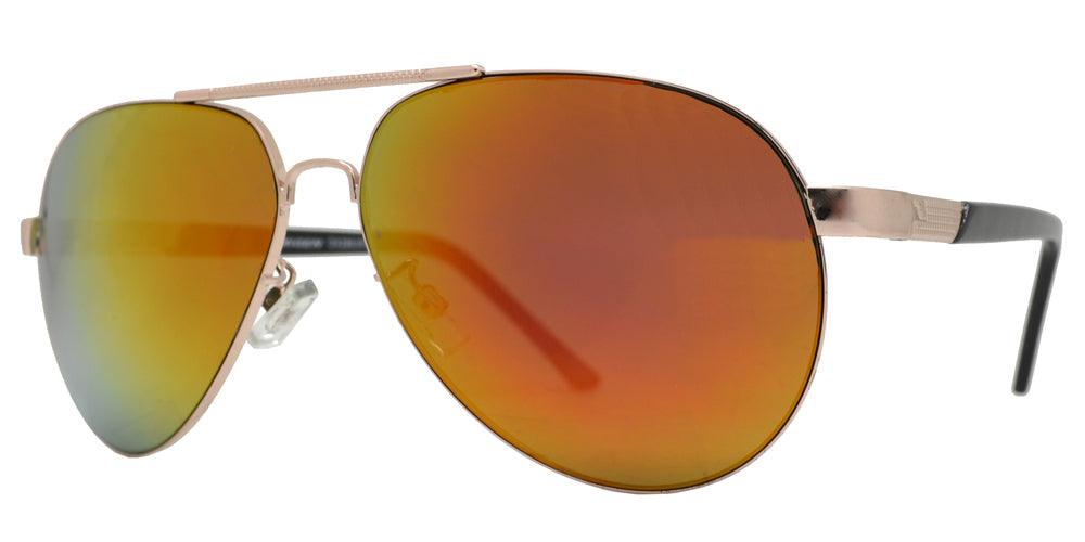 Wholesale - OX 2863 RVC - Classic Oval Shaped Metal Sunglasses with Color Mirror Lens - Dynasol Eyewear