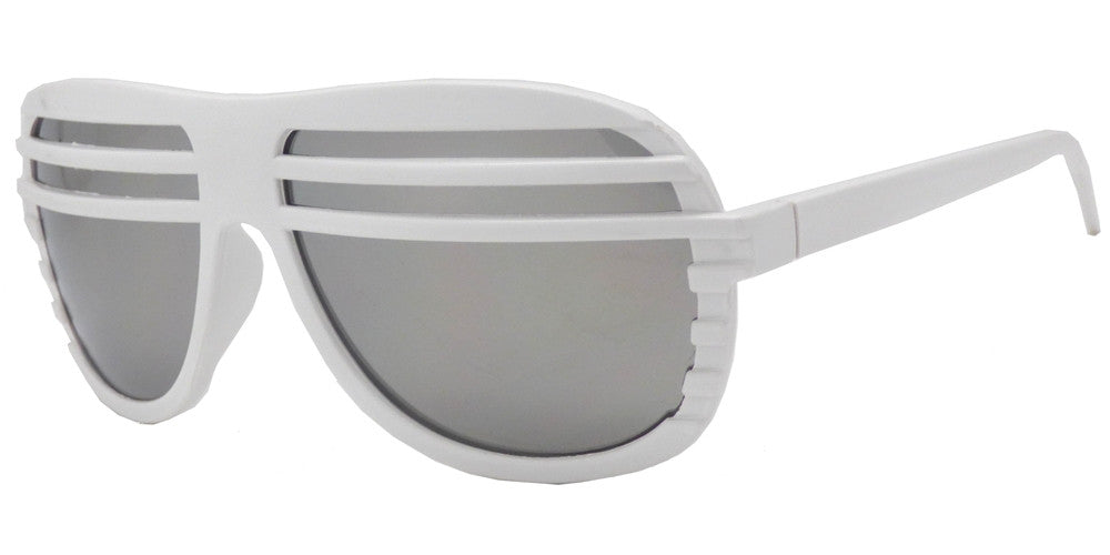 Wholesale - 7209 M - Retro Oval Shape Curtain Mirror Lens Plastic Sunglasses - Dynasol Eyewear