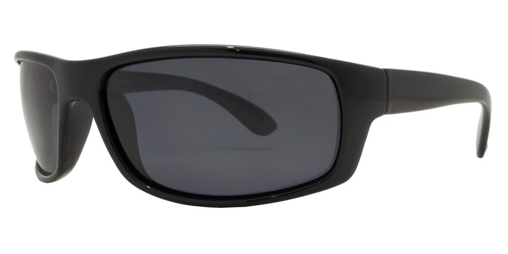 Wholesale - PL 707 - Classic Sports Plastic Wrap Around Polarized Sunglasses - Dynasol Eyewear