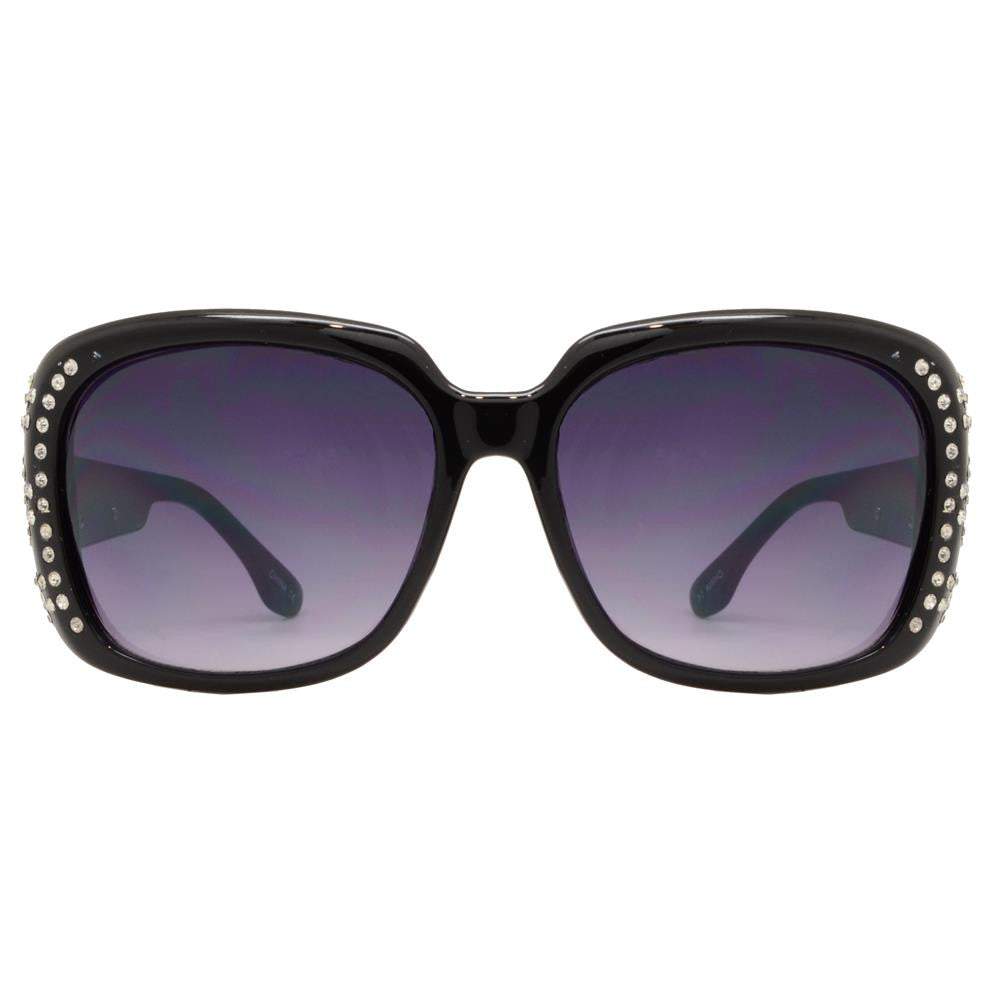 Wholesale - PLD-14 - Square Frame with Rhinestones Plastic Sunglasses - Dynasol Eyewear