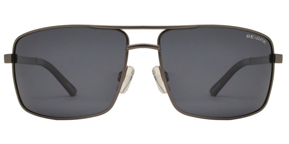 Wholesale - PL 2848 - Polarized Men Classic Square Metal Sunglasses - Dynasol Eyewear