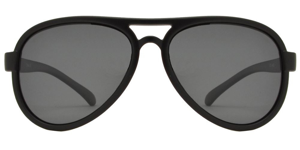 PL 3008 - Polarized Kids TR90 Rubber Retro Aviator Sunglasses