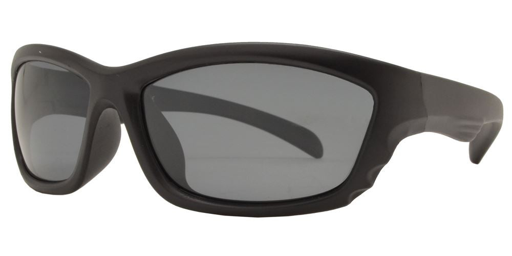 PL 3009 - Polarized Kids TR90 Rubber Sport Wrap Around Sunglasses