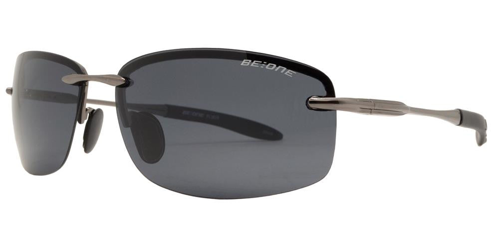 PL 3625 - Polarized Men Rimless Sport Metal Sunglasses