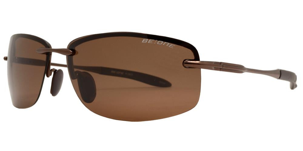 Dynasol Eyewear - Wholesale Sunglasses - PL 3625 - Polarized Men Rimless Sport Metal Sunglasses - sunglasses