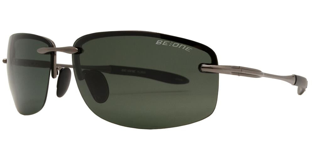 Wholesale - PL 3625 - Polarized Men Rimless Sport Metal Sunglasses - Dynasol Eyewear