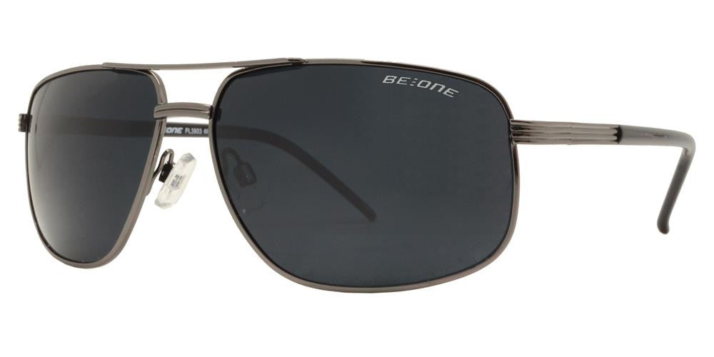 PL 3903 - Polarized Men Classic Square Metal Sunglasses