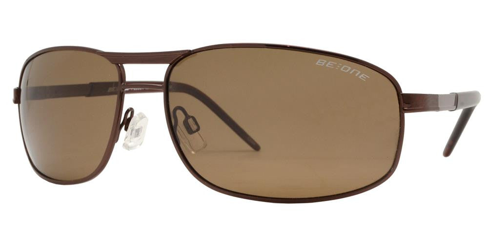 Wholesale - PL 3904 - Polarized Men Rectangular Metal Sunglasses - Dynasol Eyewear