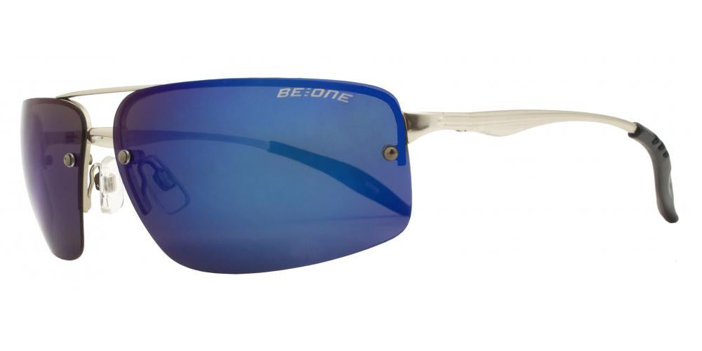 Wholesale - PL 3912 RVC -Polarized Men Rimless Rectangular Sport with Color Mirror Lens Metal Sunglasses - Dynasol Eyewear