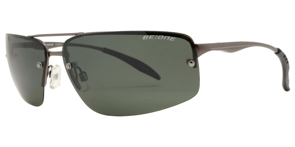 Wholesale - PL 3912 - Polarized Men Rimless Rectangular Sport Metal Sunglasses - Dynasol Eyewear