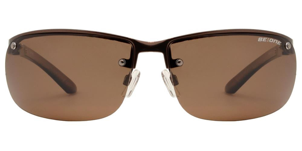 Wholesale - PL 3917 - Polarized Men Half Rim Rectangular Sport Metal Sunglasses - Dynasol Eyewear
