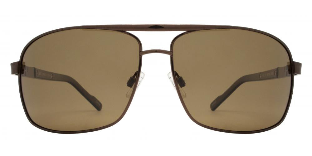 Dynasol Eyewear - Wholesale Sunglasses - PL 3919 - Polarized Rectangular Aviator Metal Sunglasses - sunglasses