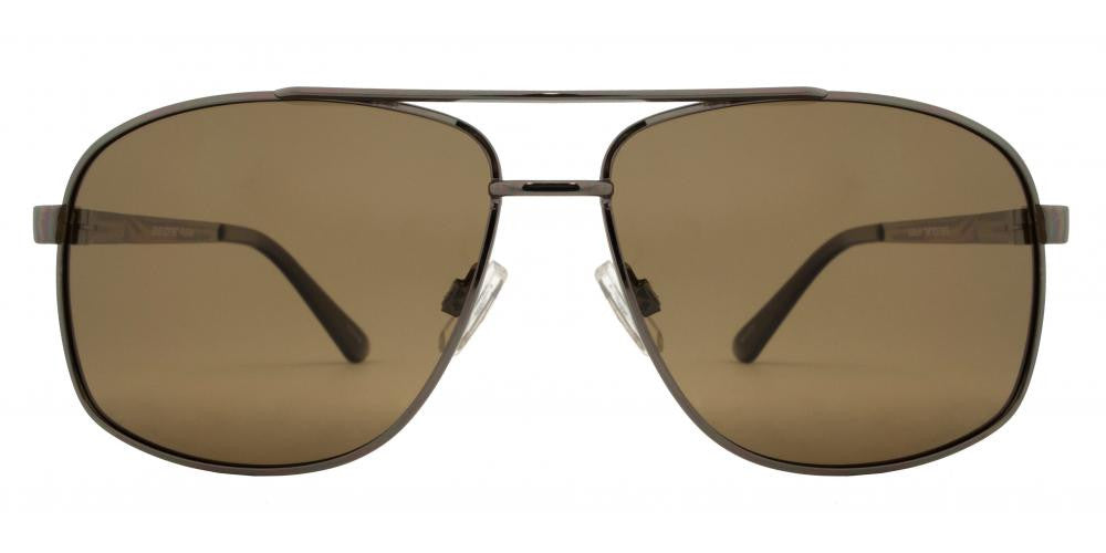 Wholesale - PL 3920 - Polarized Classic Square Aviator with Brow Bar Metal Sunglasses - Dynasol Eyewear