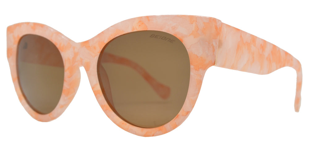 Dynasol Eyewear - Wholesale Sunglasses - PL 3945 - Round Horn Rimmed Cat Eye Chunky Plastic Polarized Sunglasses - sunglasses