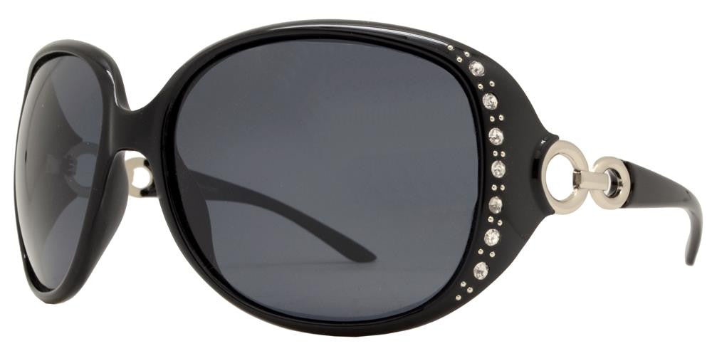 Wholesale - PL 7304 BX - Women's Plastic Butterfly Polarized Sunglasses with Rhinestones - Dynasol Eyewear